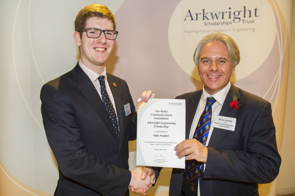 With Steve Hartley, trustee of the RCF at the Arkwright Awards Ceremony